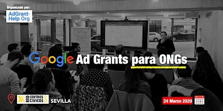 Formación Google Ad Grants para ONG's Sevilla entradas