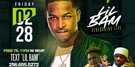 """FREE TICKETS for """"LIL BAM CONCERT"""" @ THE GARDEN (FEB 28TH) tickets"""