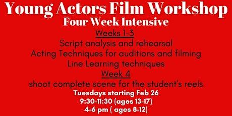 Young Actors Filmmaking class tickets