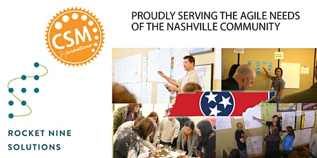 Live Online from Nashville - Certified Scrum Master Training (CSM) Early April Weekend tickets