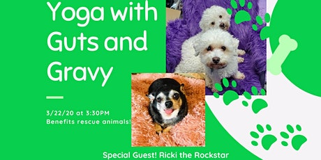 Yoga with Guts and Gravy- Rescue Animal Benefit ***postponed*** tickets
