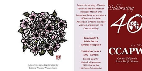 CCAPW 40th Anniversary & API Heritage Month Kickoff Reception tickets