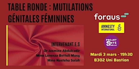 Table Ronde à Genève : Mutilations Génitales Féminines billets