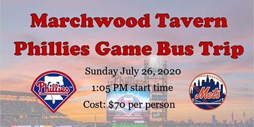 Marchwood Tavern - Phillies Game Bus Trip