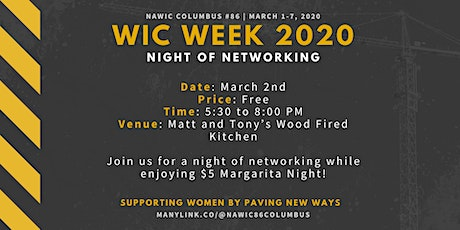WIC Week 2020 - Night of Networking tickets