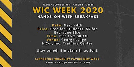WIC Week 2020 - Hands On and Breakfast tickets