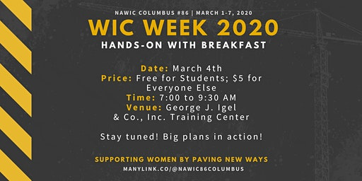 WIC Week 2020 - Hands On and Breakfast
