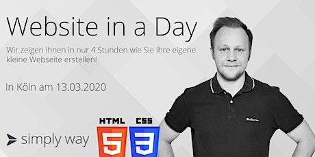 Website in a Day - HTML UND CSS Grundlagen - Für Anfänger Tickets