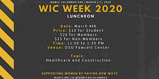 WIC Week 2020 - Luncheon