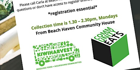 Community Eats Pick up Monday 2nd of March. Delivering Rescued food to Beach Haven tickets