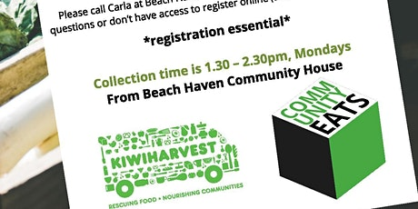Community Eats Pick up Monday 9th of March. Delivering Rescued food to Beach Haven tickets