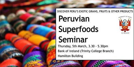The Peruvian Super Foods Seminar - Tasting tickets