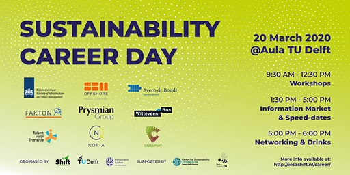 Sustainability Career Day 2020 Sign-Up Form | Friday, 20 March 2020