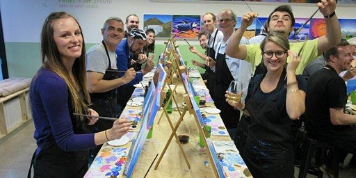 Paint and Sip Party The Dun Cow Lumley Co. Durham