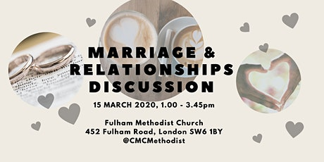 Marriage and Relationships Discussion: Chelsea, Hammersmith, Fulham Circuit tickets