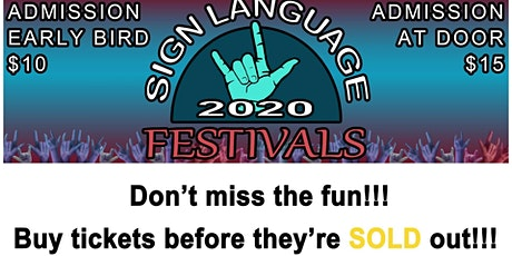 Sign Language Festivals tickets