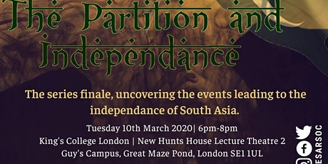 FoundAsians: The Partition and Independence tickets