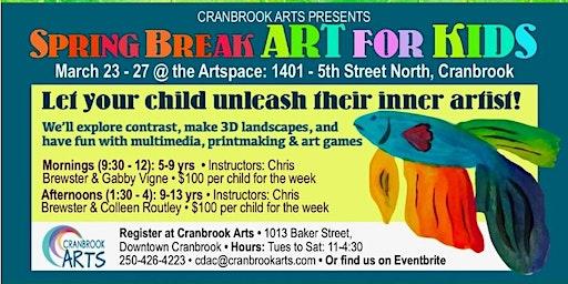 Spring Break Art for Kids for  5-9 year olds