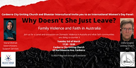 Why Doesn't She Just Leave?  Family Violence and Faith in Australia tickets