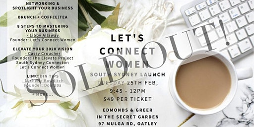 Let's Connect Women Networking South Sydney Launch