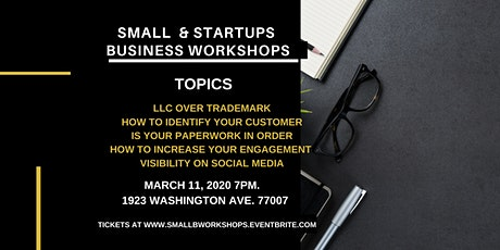 Startup & Small Business Workshops tickets