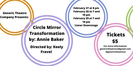 Generic Theatre Company's Circle Mirror Transformation tickets