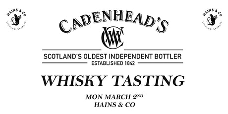 Cadenhead Whisky Tasting tickets