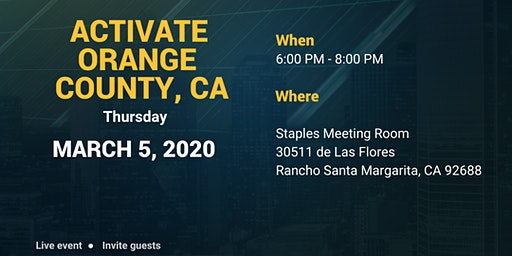 LOCAL OPPORTUNITY AND TRAINING EVENT - ORANGE COUNTY, CA