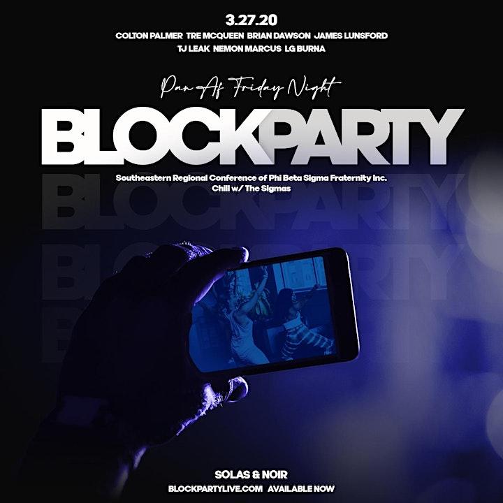 PAN AF BLOCK PARTY W/ THE SIGMAS!!! image