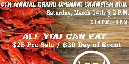 4th Annual Grand Opening Crawfish Boil