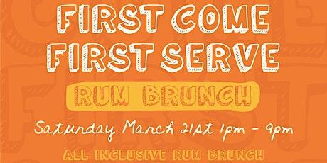 First Come First Serve: Rum Brunch tickets