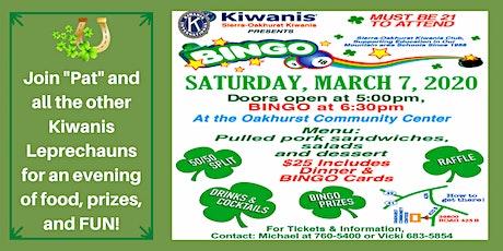 Sierra-Oakhurst Kiwanis BINGO! tickets