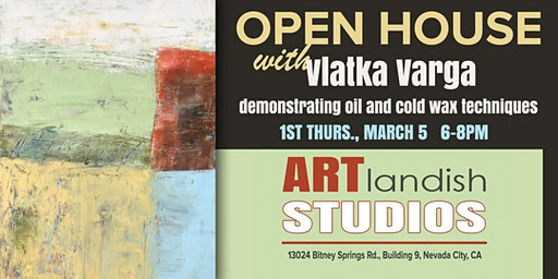OPEN HOUSE: Vlatka Varga demonstrates oil and cold wax techniques