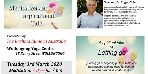 Monthly Meditation & Talk Dr Roger Cole