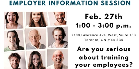 Canada Ontario Job Grant  - Information Session - Staff Training tickets