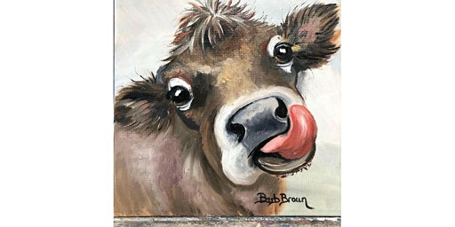 Colorful Cows Canvas Painting Workshop- Buford