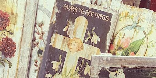 Spring Vintage Image Transfer Signs