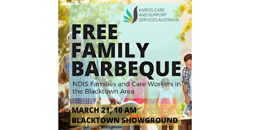 Free Family BBQ for NDIS Families and Care Workers