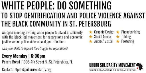 WHITE PEOPLE: DO SOMETHING! Reparations Open Meeting