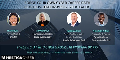 FORGE YOUR OWN CYBER CAREER PATH: HEAR FROM THREE INSPIRING CYBER LEADERS tickets