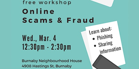 Computer Workshop on Online Scams and Fraud tickets