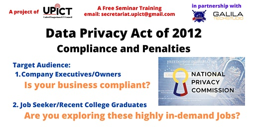 Data Privacy Act of 2012 - Is your business compliant? Are you exploring these jobs?
