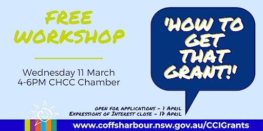 'How To Get That Grant!' Workshop