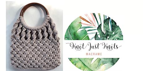 #imadeitmyself  -  Macrame Bag with Knot Just Knots Macrame  tickets