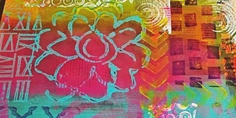 Half Day: Adult Guided OPEN Studio, Gelli Printing WOW with Debi West tickets
