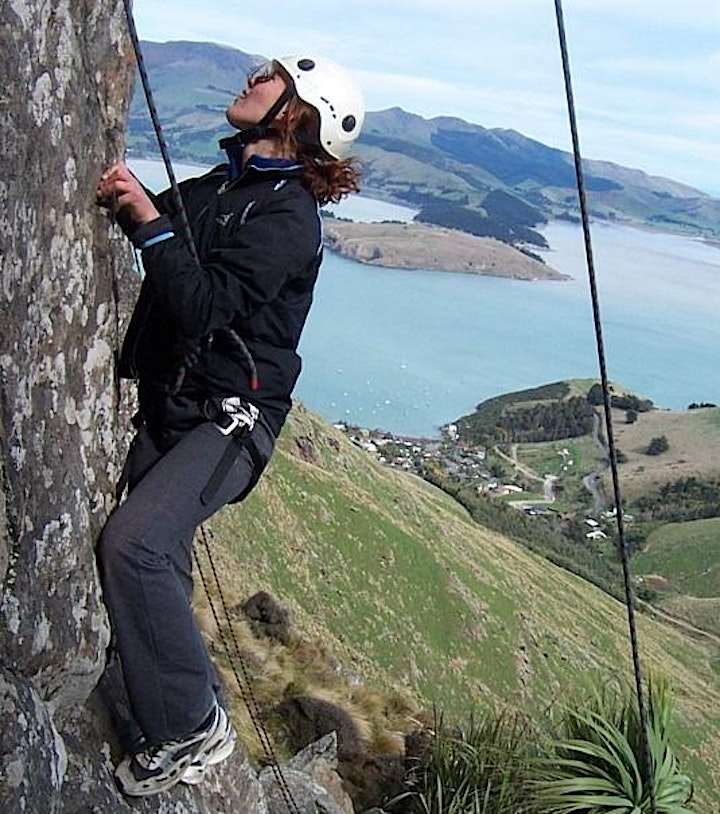 Climbing and abseiling at Spur Road, Timaru image