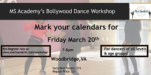 MS Academy Bollywood Dance Workshop