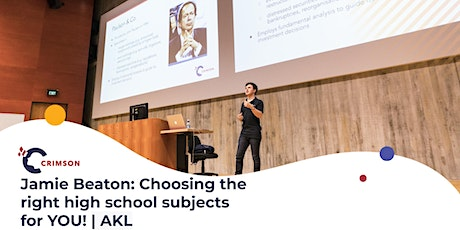 Jamie Beaton: Choosing the right high school subjects for YOU! | AKL tickets