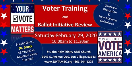 Voter Training & Ballot Initiative Review tickets