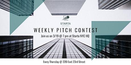 Pitch Contest & Happy Hour @ Starta Ventures tickets